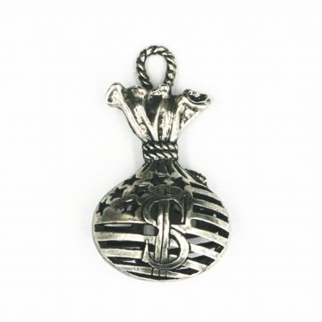 4pcs x 21*39mm money bag charm - antique silver plated - 1606060